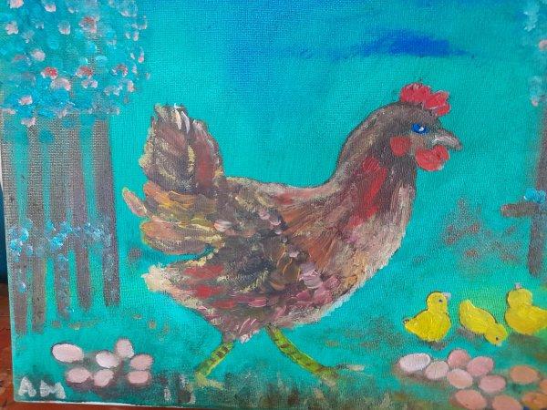 Ma poule de Pâques ou la mère poule !