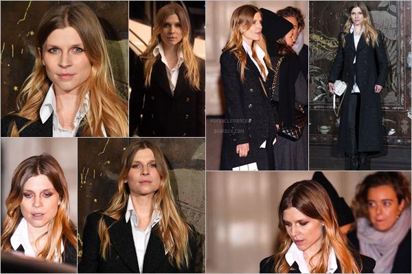 - _ 04/12/19: Clemence Poesy a assisté au  défilé des métiers d'art 2019/2020 de Chanel au Grand Palais à  Paris .  C'est à Paris que nous retrouvons notre jolie Clémence pour un défilé Chanel. Côté look, elle a opté pour une simple tenue noire. C'est un joli top -