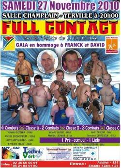 GALA DE FULL CONTACT (YERVILLE SAMEDI 27 NOVEMBRE)