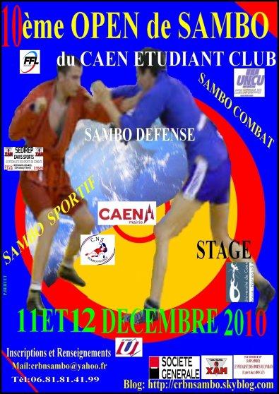 Section Pancrase 1Oème Open de Sambo Caen le 11 et 12 décembre 2010
