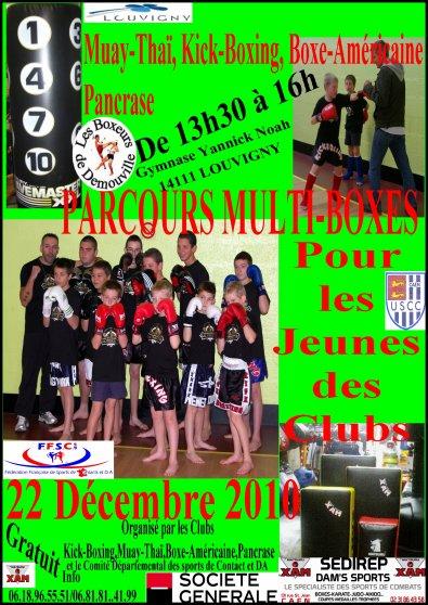 Parcours Jeunes Multiboxes le 22 décembre 2010 à Louvigny 14111 et '''FERMETURES PENDANT LES VACANCES''''