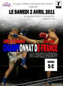Demi finale France Elite A de kick boxing à Strasbourg le 02 Avril