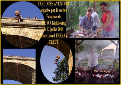 Parcours Aventure USCCKickboxing/Pancrace 02 juillet 2011 à Clécy 14