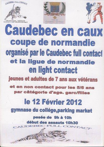 Coupe de normandie FFFC inter régions (dimanche 12 / 02 à Caudebec en caux) jeunes/adultes