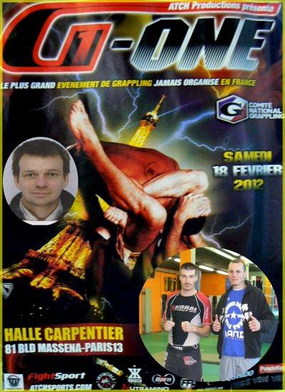 Compétition de Grappling le G-ONE le 18 février 2012 à Paris