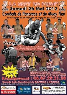 Gala Pancrace Muay-Thaï à Vannes le 26 Mai 2012 et Chpt de france kick  Light séniors FFsc et Da à Paris