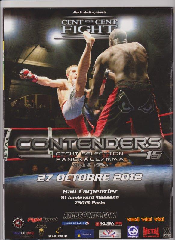 CONTENDERS 15 le 27 octobre 2012  à PARIS