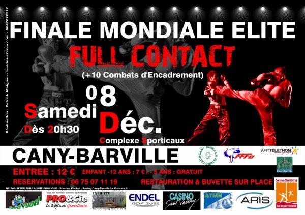 Finale mondiale de full contact FFFc à Cany Barville ce samedi 8 dec à 20h