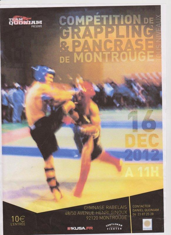 Compétition de Grappling et Pancrace à Montrouge Paris le 16 Décembre 2012