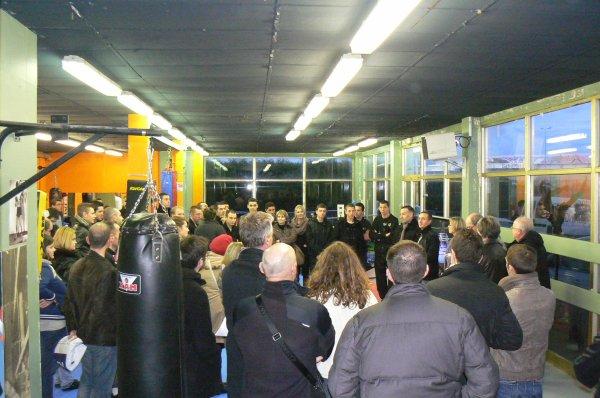 Inauguration de la Salle Jean Baptiste ROLLAND après les travaux par Mr Philippe DURON  Maire de Caen
