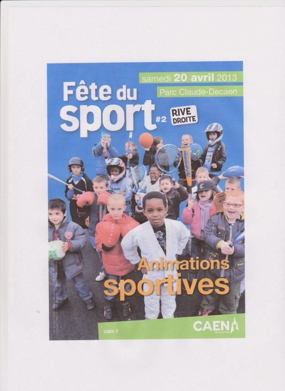 Fête du sport Parc Claude DECAEN le 20 Avril 2013