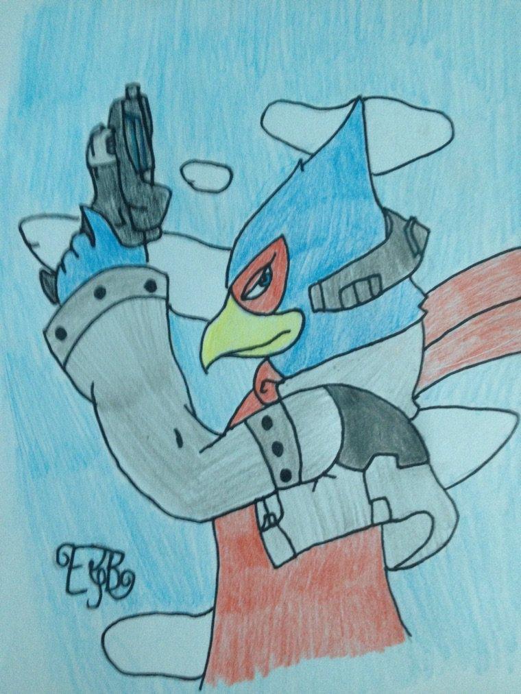 Voilà Falco dans Starfox dessiner par moi •w•
