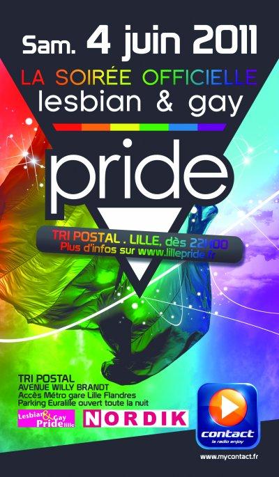 """Visuel """"Soirée officielle de la Lesbian & Gay Pride Lille 2011"""""""