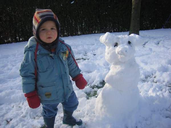 Mon Mamour cet après midi dans la neige