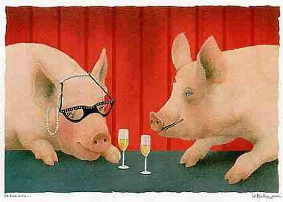 Tradition chez nous offrons des lunettes à ceux que nous aimons