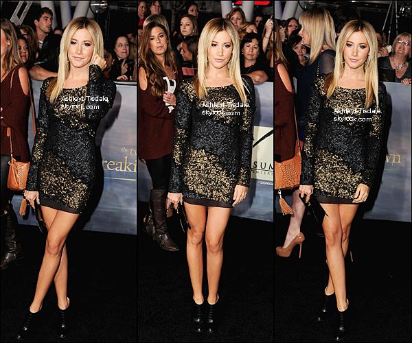 . Ashley Tisdale a assisté à la Breaking Dawn: Partie 2en première mondiale à Los Angeles. Magnifique robe , elle est vraiment Belle notre petite Ash' Tu en pense quoi? .