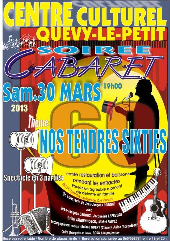 SOIREE CABARET CENTRE CULTUREL DE QUEVY LE PETIT