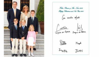 Les voeux de la famille royale d'Espagne