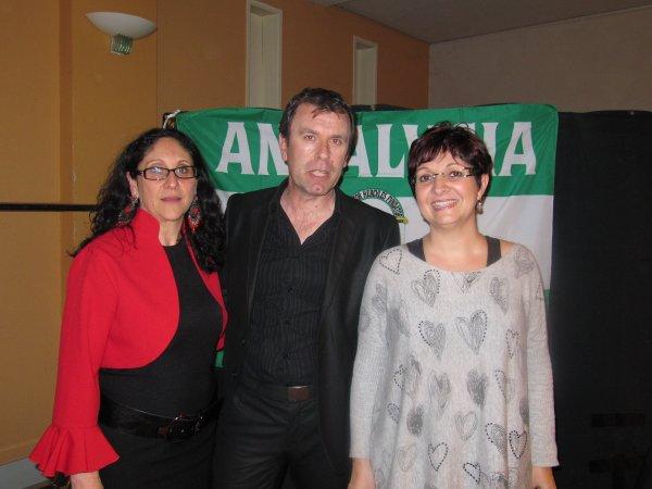 Vendredi 2  mars à Beaucaire. Festival de Flamenco Gen-ibérica y était ! Rencontre avec le président de l'association organisatrice TATA FINA du festival de Flamenco LAS FLAMENCAS de Beaucaire et son épouse Quelle magnifique soirée remplie d'émotion et d'amitié.