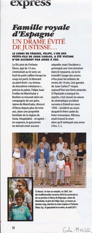 Incident dans la famille royale d'Espagne