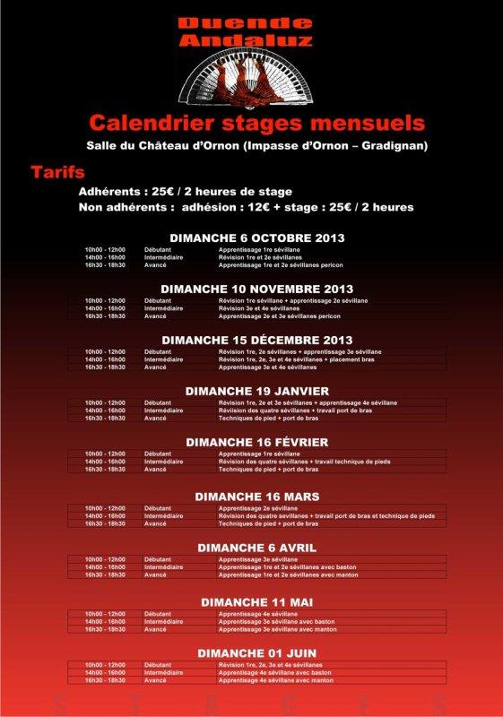 Stages de danses sévillannes à Bordeaux par l'association DUENDE ANDALUZ