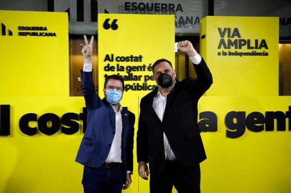 Régionales en Catalogne : les indépendantistes renforcent leur majorité au parlement régional Plus de trois ans après une tentative de sécession avortée, les indépendantistes (ERC, JxC et CUP) ont dépassé pour la première fois les 50 %, renforçant leur majorité avec 74 sièges.  Le Monde avec AFP et Reuters
