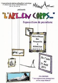 Article de journal : Exposition collective avec l'Association Mémo'Art