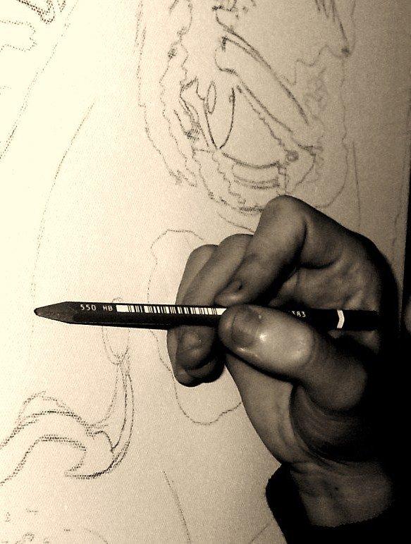 Traçage des peintures pour l'équipe de La Fouine