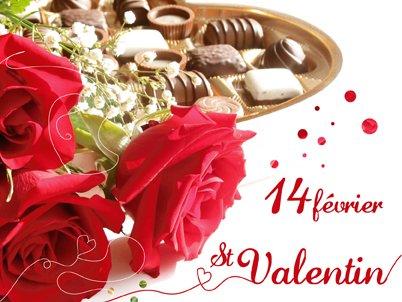 Aujourd'hui 14 février c'est la St Valentin ! Alors bonne St Valentin à tous