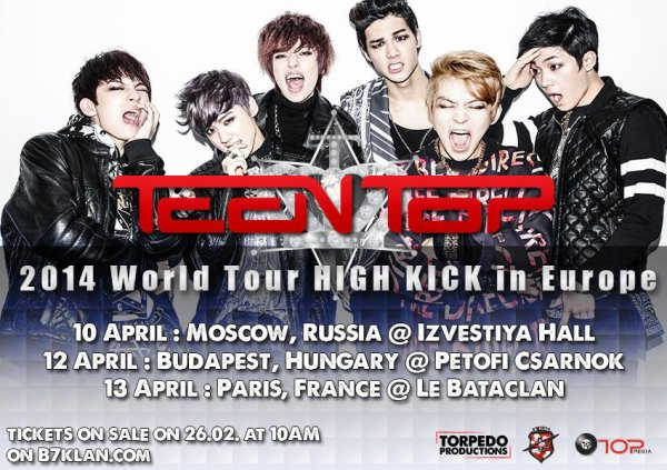 Teen Top ~ 2014 World Tour High Kick !