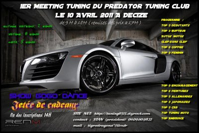 meeting du club de the predator tuning le 10 avril 2011 a decize