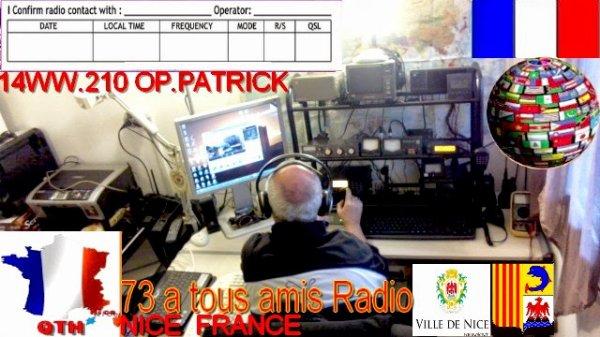 QSL de 14WW.210 NICE FRANCE LE MONDE MAGIQUE DU  RADIOAMATEURISME
