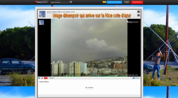 orage désespoir qui arrive sur la Nice cote d'azur