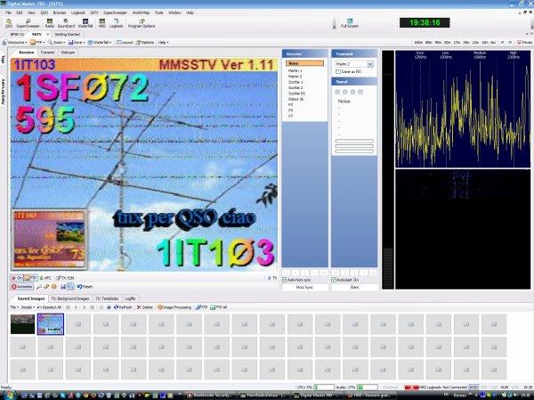 les première IMAGE SSTV DE Ham Radio Deluxe pour moi avec icom-7200