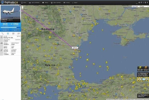 Voir le trafic aérien dans le monde en LIVE