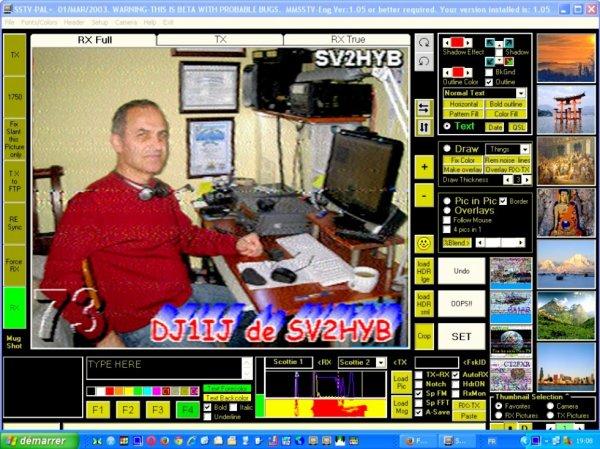 image SSTV du jour 28/09/2014 19:05