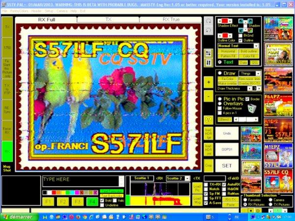 images du jour.. 13/ 10/2014.. SSTV RX DE F-11874 OP.PATRICK NICE VILLE FRANCE Band 20M USB 14.230.00 16:h46