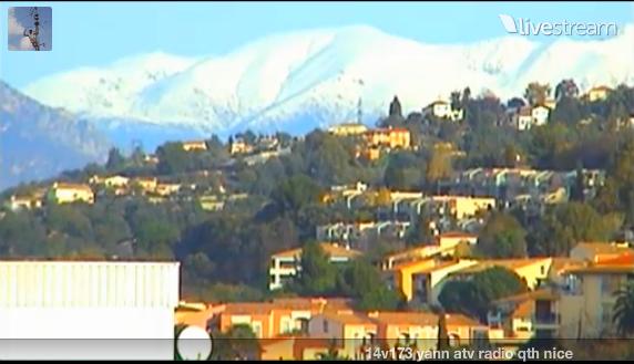 neige sur les montagnes des alpes maritimes aujourd'hui image en Live de cher 14v173 yan