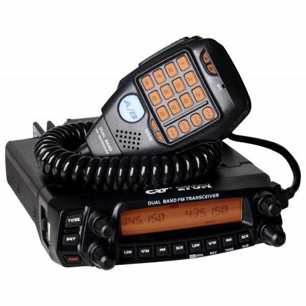 CRT 270 M BIBANDE VHF/UHF MOBILE PRIX DE  219,00 ¤ A VOIRE POUR LES NOUVEAUX RADIOAMATEURE DE NICE LES 8 OM