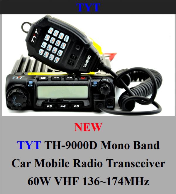 le dernier petit mais costo arrivé le17/02/2015 des la station radio de F-11874 TYT TH-9000D VHF