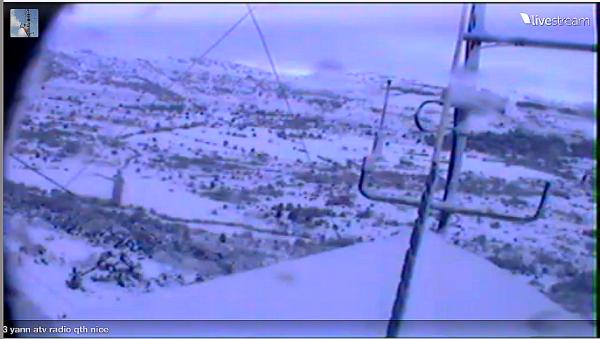 du Live Mont Doublier (06) 21/02/2015  au de su Grasse  Alpes-Maritimes   ATV Télévision RADIOAMATEUR en live de 14V173 YANN