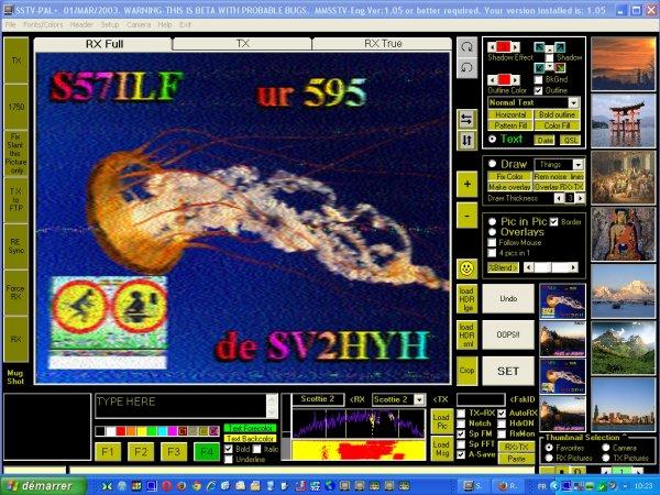 RX SSTV de F-11874 14.230.00 20/04/2015 a 10h10 du Matin