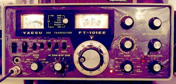 a la radio des radioamateur des année 1970 la bonne époque