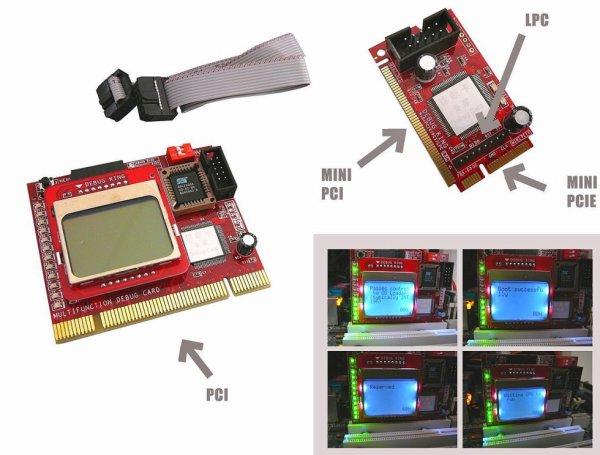 Testeur Multifonction pour cartes mères avec Ecran LCD -