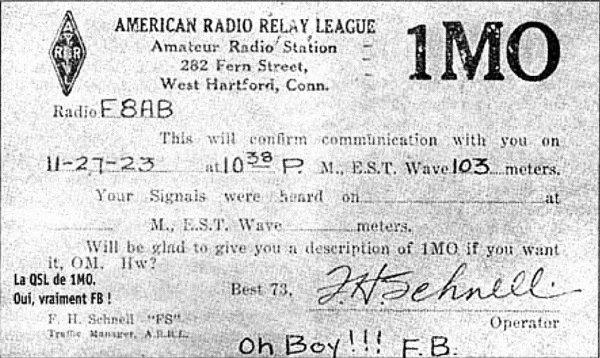 LE PREMIER DEMI-SIÈCLE (1894 - 1945) Quelques jalons chronologiques Par Jacques MARZAC 1894 En novembre 1894, dans les caves de la Faculté des sciences de  Bordeaux, France, à l'aide d'un résonateur de Hertz muni d'un  téléphone, Albert Turpain réalise les premières émissions-réceptions  de messages Morse sur 25 mètres de distance, à travers 4 murs de  50 cm d'épaisseur. Par Bernard BLIN