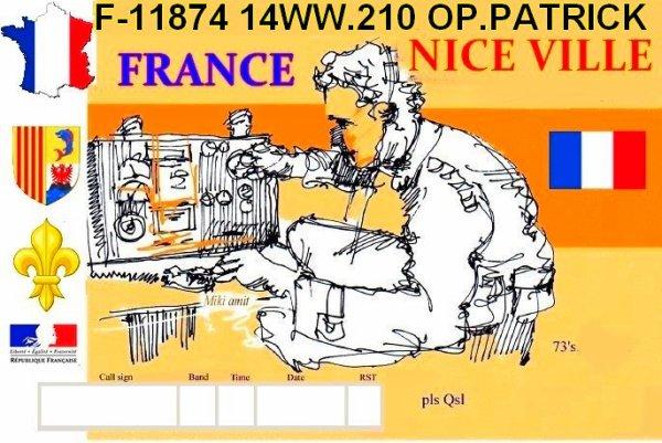 F-11874 OP.PATRICK  a l'écoute   Des millions d'amis dans le Monde sans passé le seuil de Ma porte