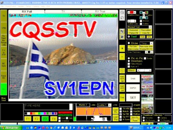 première image SSTV du commencement de l'automne 2015 21.340.00 USB QRK 95