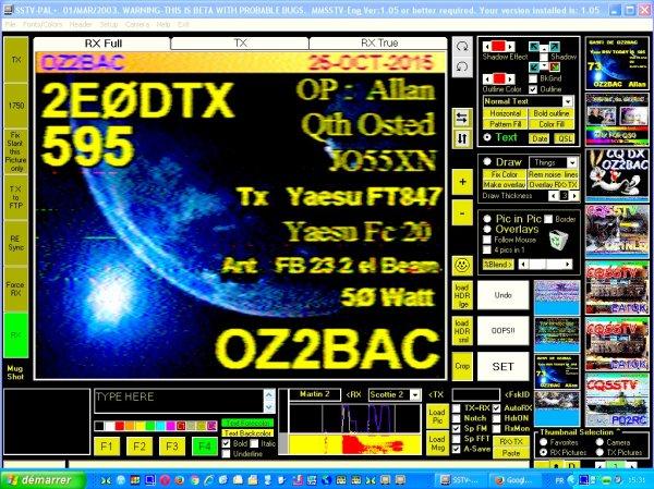 image sstv 14.230.00 USB le 25/10/2015 RSV 595 10h45  est 16h25 heure française GMT
