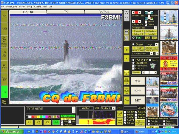 image sstv 14.230.00 USB le 25/10/2015 RSV 595 10h45  est 18h20heure francaise gmt