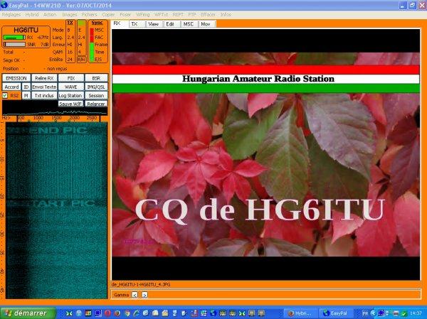 .....SSTV DRM LIVE non pas en  Hybride..... dirait de l'antenne au transcender